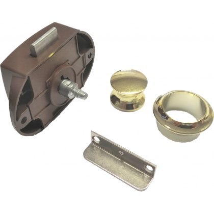 Brown Lock with Brass/Gold Fittings