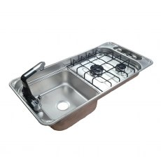 CAN FL1401GP Rectangular 2 burner hob with sink