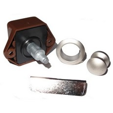 Push Button Lock 15 mm  - Brown Lock