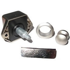 Push Button Lock 15 mm - Silver Lock
