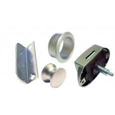 Push Button Lock 22 mm - Silver Lock