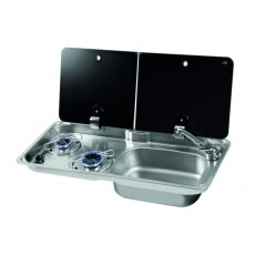 CAN GR1765 NEW 2 Burner Hob/Sink Combination