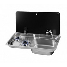 CAN GR1760 NEW 2 Burner Hob/Sink Combination - Single Lid
