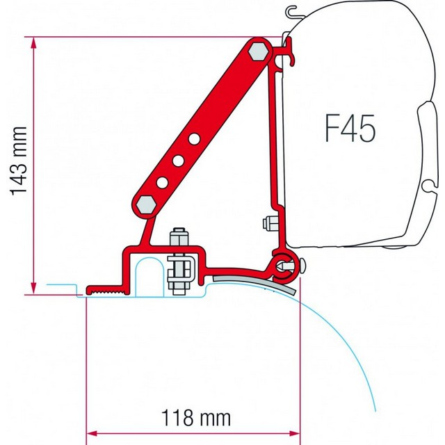Fiamma F45 Awning Brackets Awnings Grassroutes Leisure Ltd