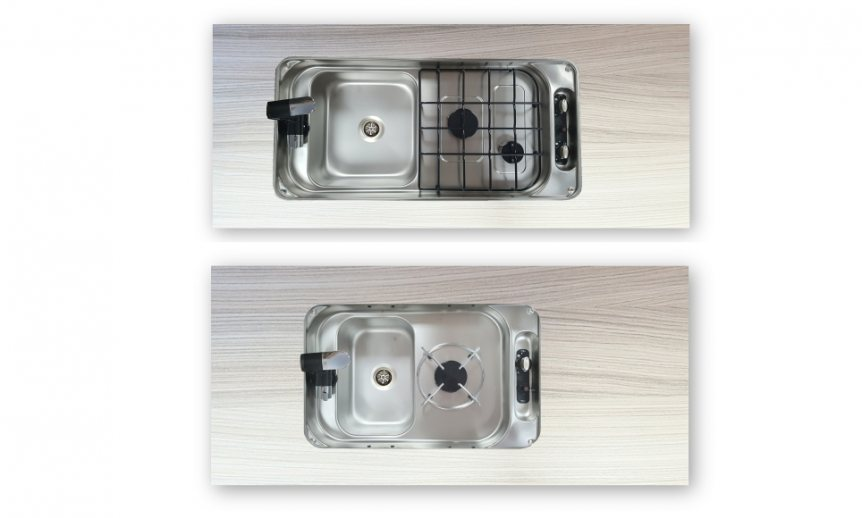 New Italian made hob/sink combination units