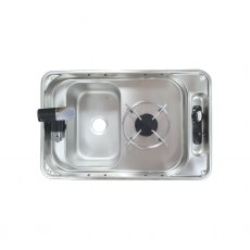 CAN FL1323GP Rectangular one burner hob and sink