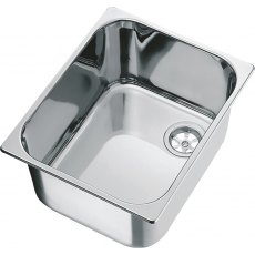 CAN LA1401 Rectangular Semi-polished Sink