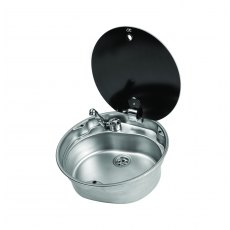 CAN LR1770 Round Sink with Glass Lid (dia. 407 mm) - Temporarily Out of Stock