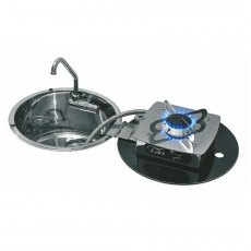 CAN LC1701 Round Foldy One Burner Hob/Sink Combi