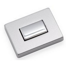 Rectangular Push Button Lock Chrome/Silver