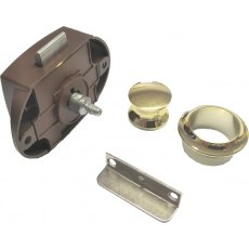 Push Button Lock 22 mm - Brown Lock