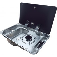 CAN FL1323/FL1324 One Burner Hob/Sink Combi - Single Lid