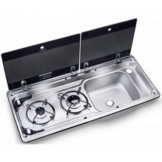 Dometic MO9722 Sink & Two Burner Hob Combi - Twin Lid