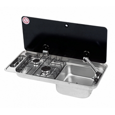 CAN FL1400/FL1410 Two burner Hob/Sink Combi - Single Lid