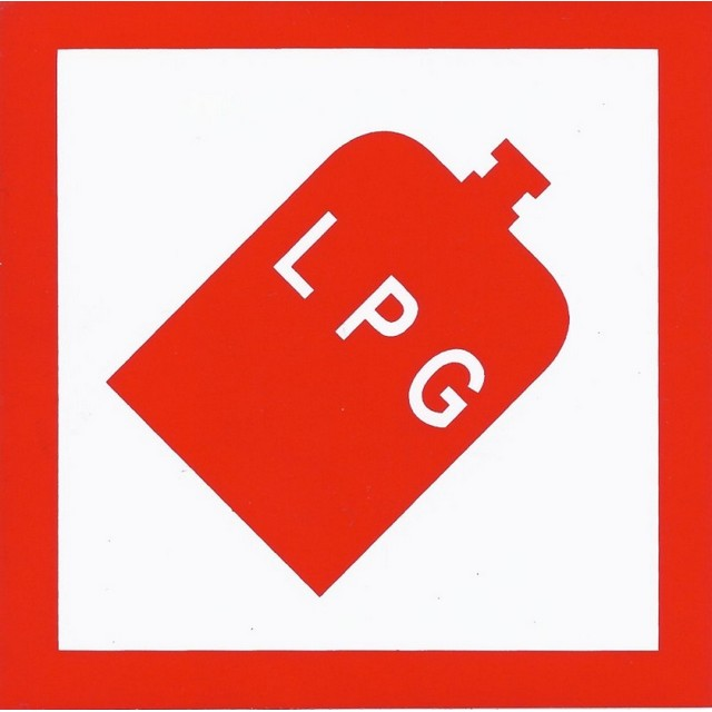 Unbranded LPG Adhesive Sign