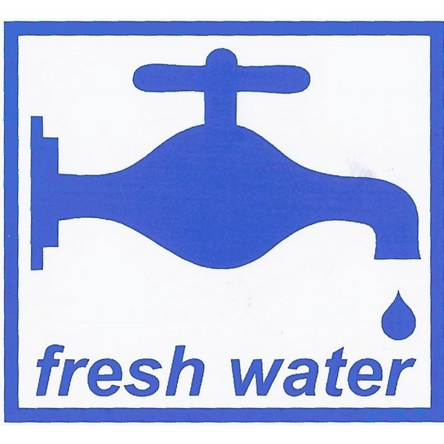 Fresh Water Adhesive Sign