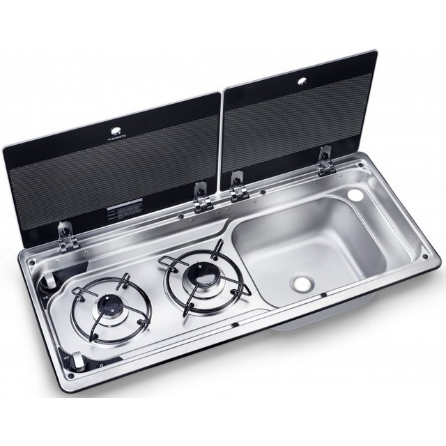 Dometic Dometic MO9722 Sink & two burner hob combination