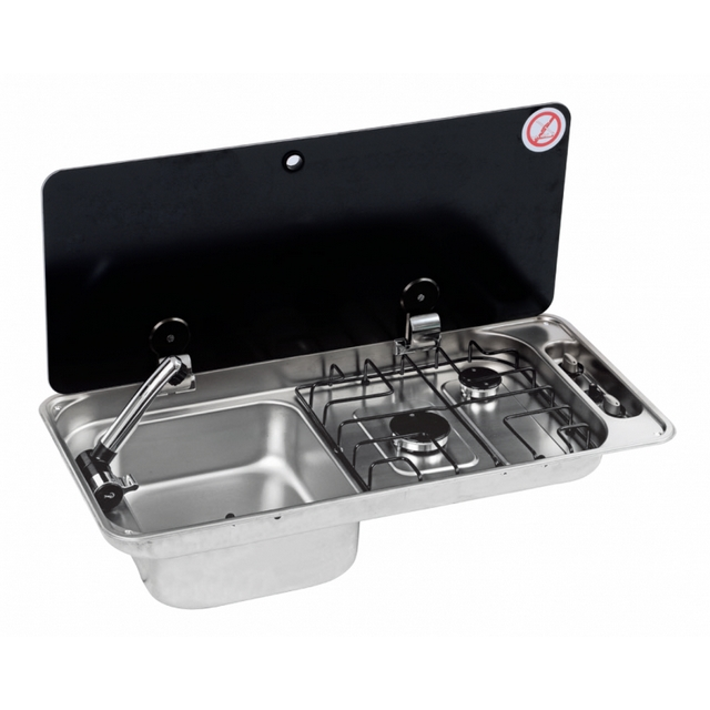 CAN Hobs & Appliances CAN Single Lid FL1410/FL1400 Hob Sink Combination unit